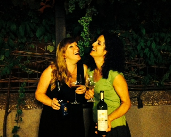 Gina and Lily at the Grape